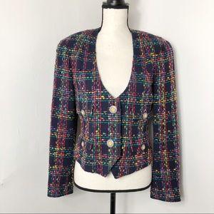 Vintage Carlisle Colorful Tweed Blazer Jacket 6